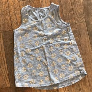 Gold foil flower tunic tank top girls size xs 4/5